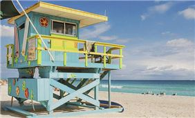 Lifeguard Tower at Miami Beach