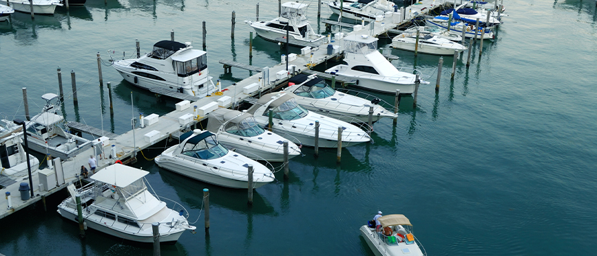 Miami International Boat Show at Causeway, Miami