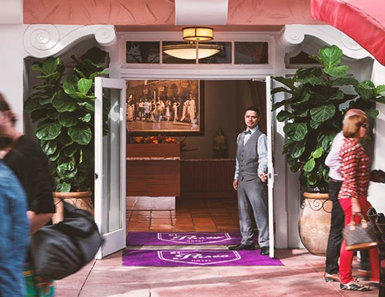 Entrance to El Paseo Hotel